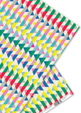 Oliver Bonas Neon Geometric Wrapping Paper Sold in 25's (ONLY AVAILABLE TO CUSTOMERS BASED OUTSIDE THE UK)
