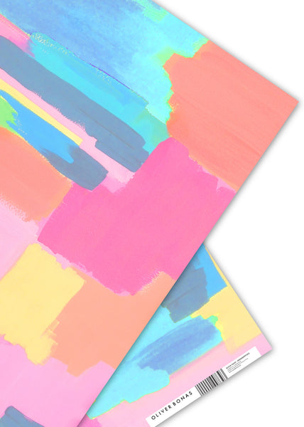 Oliver Bonas Block Paint Wrapping Paper Sold in 25's (ONLY AVAILABLE TO CUSTOMERS BASED OUTSIDE THE UK)