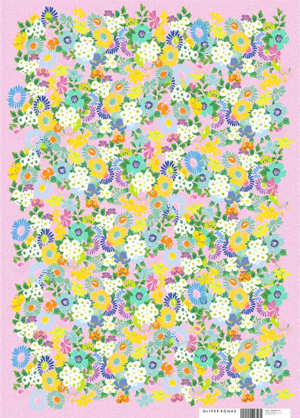 Oliver Bonas Floral Wrapping Paper Sold in 25's (ONLY AVAILABLE TO CUSTOMERS BASED OUTSIDE THE UK)