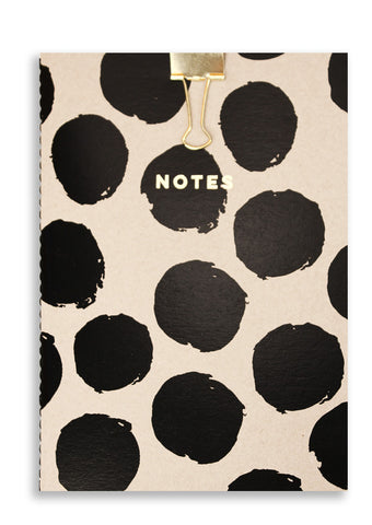 Silk Screen Printed Dots A5 Notebook