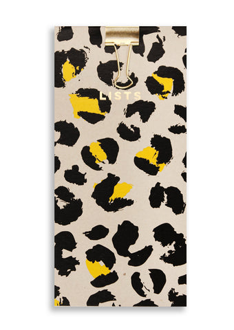 Silk Screenprinted Leopard Shopping Pad