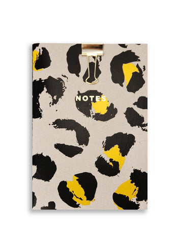 Silk Screenprinted Leopard A6 Notebook
