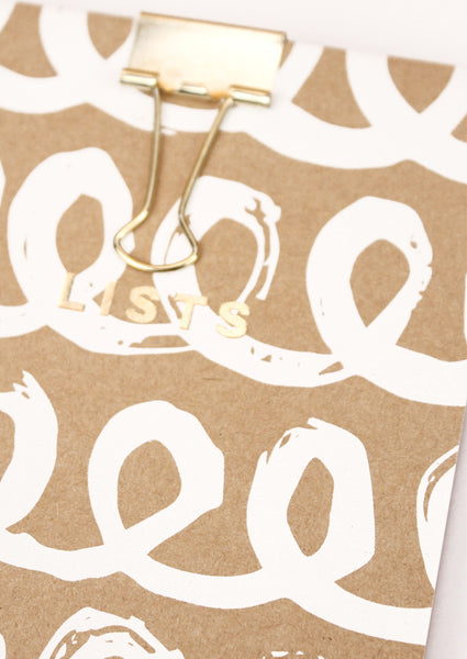 Silk Screenprinted Loops Shopping Pad