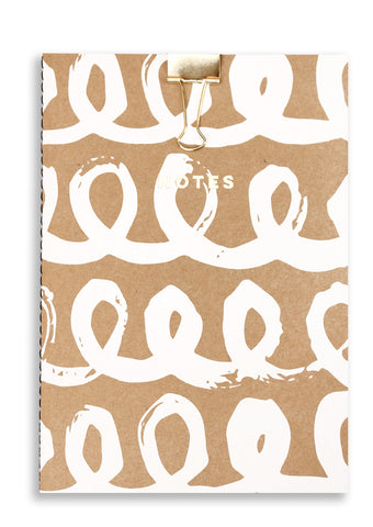 Silk Screenprinted Loop A5 Notebook Sold in 6's