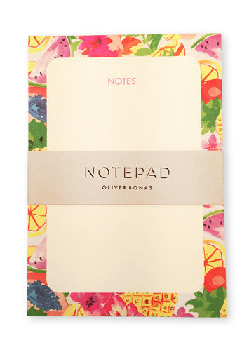 Oliver Bonas Fruit Salad Note Pad Sold in 6's (ONLY AVAILABLE TO CUSTOMERS BASED OUTSIDE THE UK)