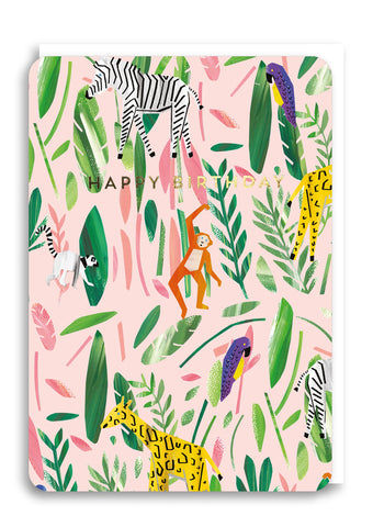 Oliver Bonas Jungle Party Card Sold in 6's (ONLY AVAILABLE TO CUSTOMERS BASED OUTSIDE THE UK)