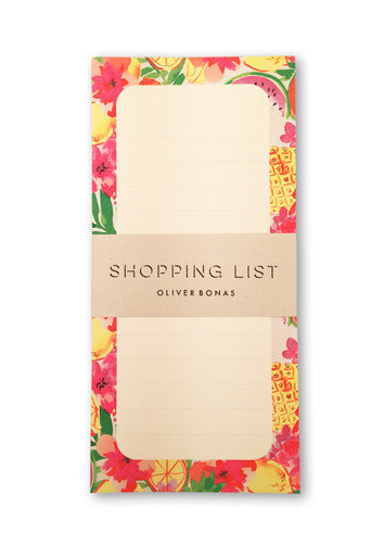 Oliver Bonas Fruit Salad Shopping Pad Sold in 6's (ONLY AVAILABLE TO CUSTOMERS BASED OUTSIDE THE UK)