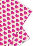 Oliver Bonas Double Heart Wrapping Paper Sold in 25's (ONLY AVAILABLE TO CUSTOMERS BASED OUTSIDE THE UK)