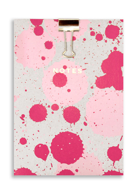 Silk Screenprinted Splat A5 Note Pad