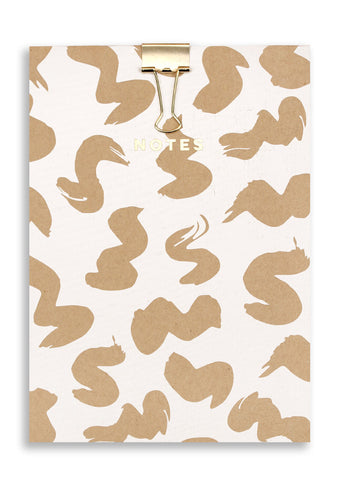 Silk Screenprinted Squirm A5 Note Pad