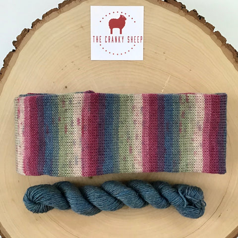 Vintage Rainbow with Denim Heather