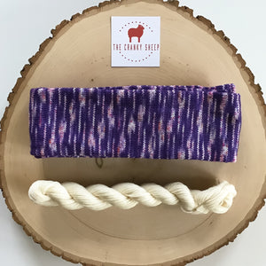 Super Soft Merino Grape with White 60SKFI09W