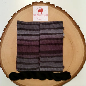 Purple Grey Gradient Stripes with Black 60DLJ183B