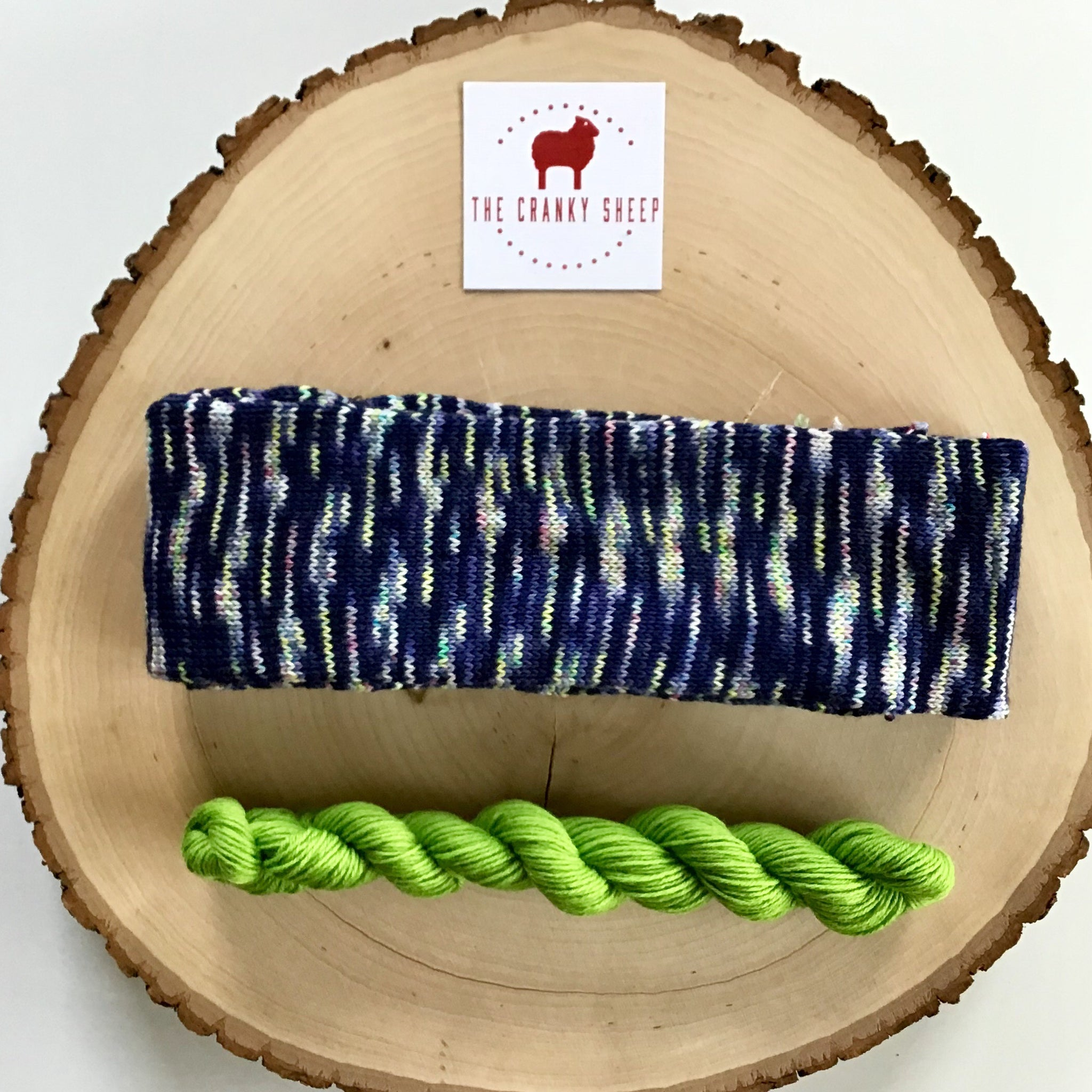 Super Soft Merino Navy with Lime 60SKFI10L