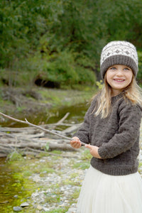 LisaF Avery Sweater and Hat pattern available at Eskdale Yarns