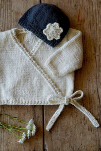 Sophia Baby Cardi and Hat knitting pattern at Eskdale yarns