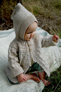 Angel Jacket Lisaf Baby Knitting pattern at Eskdale Yarns