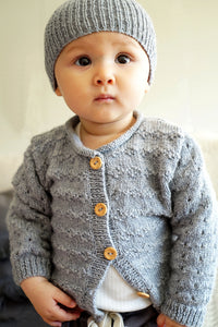 Clementina Cardigan and Hat Baby Pattern at Eskdale Yarns