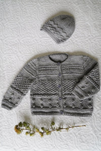 Frankie Cardi and Hat baby pattern at Eskdale Yarns
