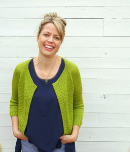 Bentley Cardigan pattern by Olive Knits at Eskdale Yarns