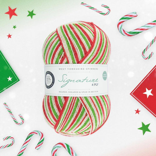 West Yorkshire Spinners Candy Cane Christmas wool at Eskdale Yarns