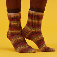 Load image into Gallery viewer, Falling Hues by Winwick Mum PDF sock pattern at Eskdale Yarns