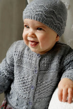 Load image into Gallery viewer, Frankie Cardi and Hat baby pattern at Eskdale Yarns
