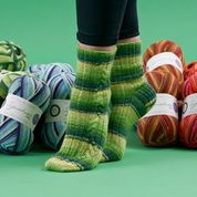 WYS Fresh Shoots sock PDF pattern at Eskdale Yarns NZ