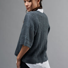 Load image into Gallery viewer, Julia Exquisite Lace cardigan/top PDF pattern at Eskdale Yarns NZ