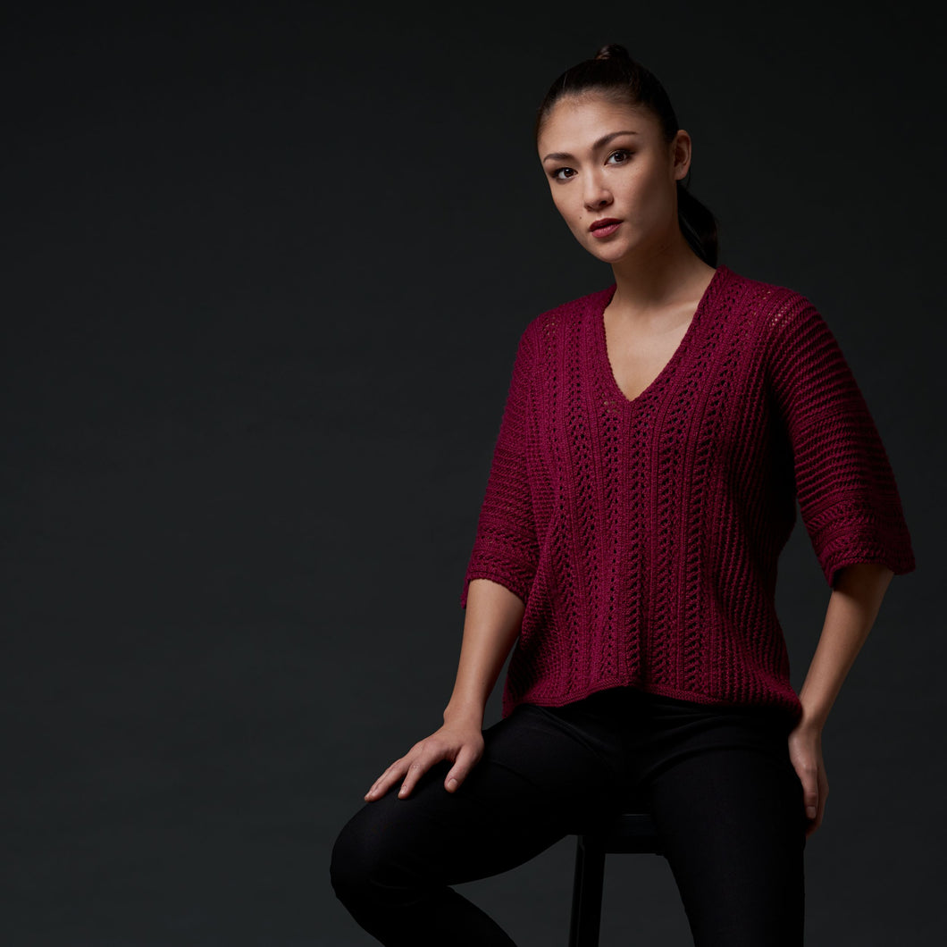 Julia Exquisite Lace cardigan/top PDF pattern at Eskdale Yarns NZ