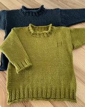 Load image into Gallery viewer, Rolled Edge knitted Jumper pattern at Eskdale Yarns
