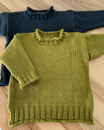 Rolled Edge knitted Jumper pattern at Eskdale Yarns