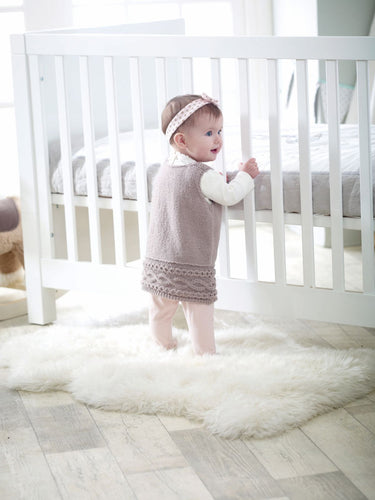 Tiny Paws Babies Dress DK Knitting pattern with shoes