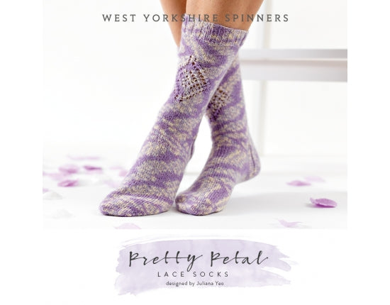 West Yorkshire Spinners Pretty Petal free sock pattern