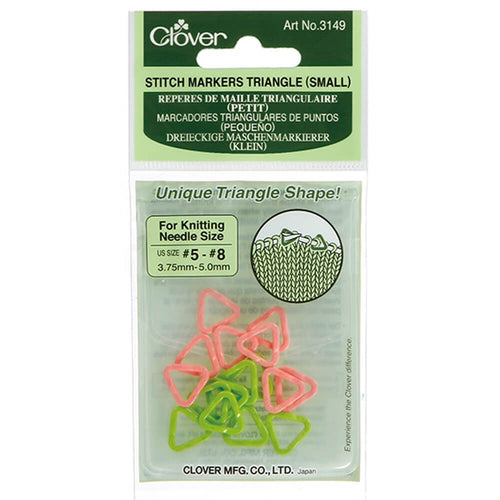 Clover-Triangle-Stitch-Markers-at-Eskdale-Yarns