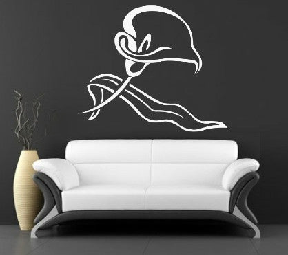 LILY FLOWER 1 WALL ART STICKER XLRG VINYL DECAL - Vinyl Lady Decals  - 1
