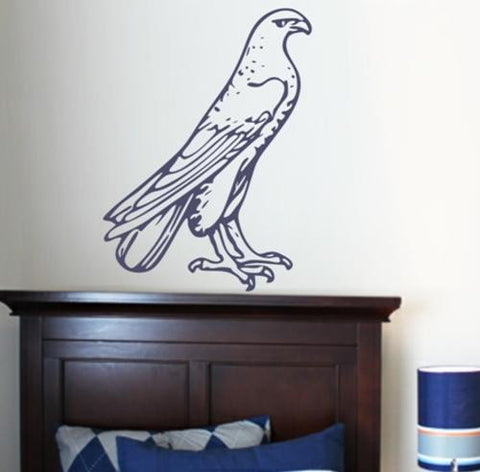 PERCHED EAGLE 1 WALL ART STICKER LRG VINYL DECAL - Vinyl Lady Decals  - 1