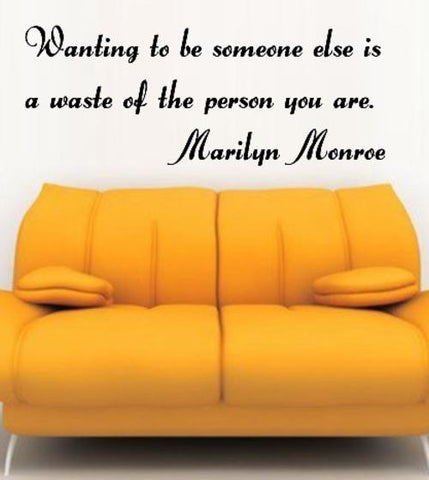 SOMEONE ELSE MARILYN MONROE QUOTE TYPE 1 WALL ART STICKER XLRG VINYL DECAL - Vinyl Lady Decals  - 1