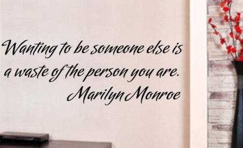 SOMEONE ELSE MARILYN MONROE QUOTE TYPE 3 WALL ART STICKER XLRG VINYL DECAL - Vinyl Lady Decals  - 1