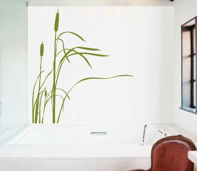 Bulrushes Plant Wall Art Sticker Vinyl Decal Various Sizes