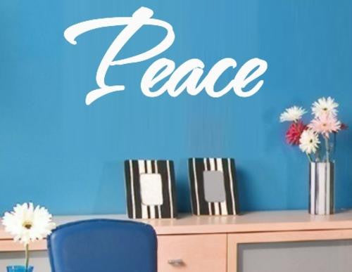 PEACE INSPIRATIONAL WORD WALL ART STICKER XLRG VINYL DECAL - Vinyl Lady Decals  - 1