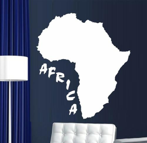 Africa Silhouette Wall Art Sticker Vinyl Decal Various Sizes