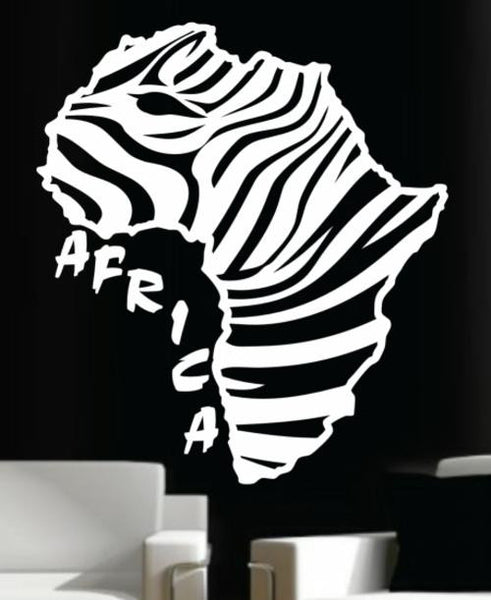 Zebra Stripe Africa Silhouette Wall Art Sticker Vinyl