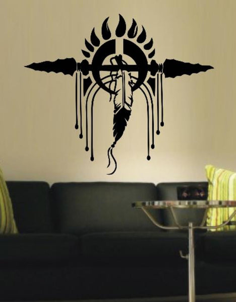 American Indian Feather Headdress Wall Art Sticker Vinyl Decal Various Sizes