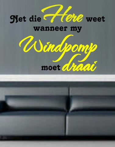 NET DIE HERE WEET AFRIKAANS INSPIRATIONAL CHRISTIAN QUOTE TYPE 1 WALL ART STICKER VINYL DECAL VARIOUS SIZES