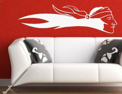 AMERICAN INDIAN SCOUT WALL ART STICKER XLRG VINYL DECAL - Vinyl Lady Decals  - 1