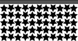 Hanging Stars Set of 55 Wall Art Stickers Vinyl Decals Various Sizes