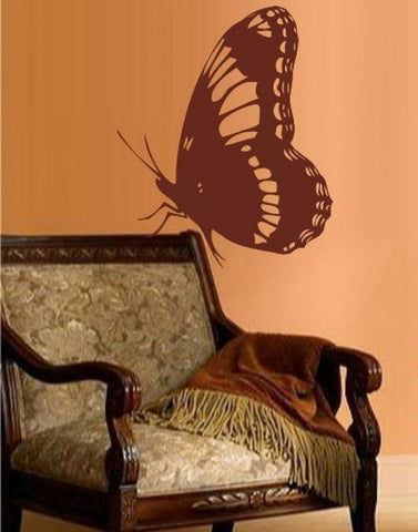 SITTING BUTTERFLY WALL ART STICKER XLRG VINYL DECAL - Vinyl Lady Decals  - 1