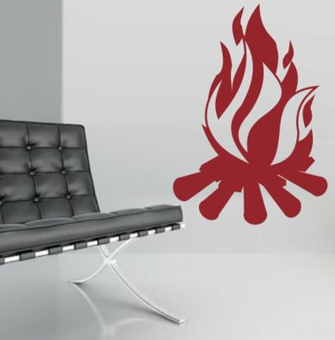 Campfire Wall Art Sticker Vinyl Decal Various Sizes