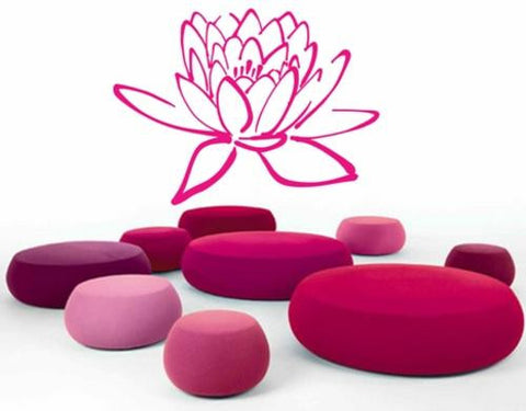 LOTUS FLOWER 1 WALL ART STICKER XLRG VINYL DECAL - Vinyl Lady Decals  - 1